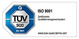 TÜV ISO 9001 certificate emblem