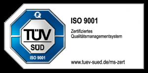 TÜV ISO 9001 Zertifikat Emblem
